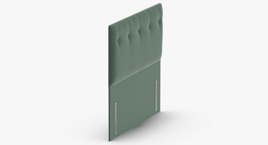 Headboard 07 Mint royalty-free 3d model - Preview no. 4