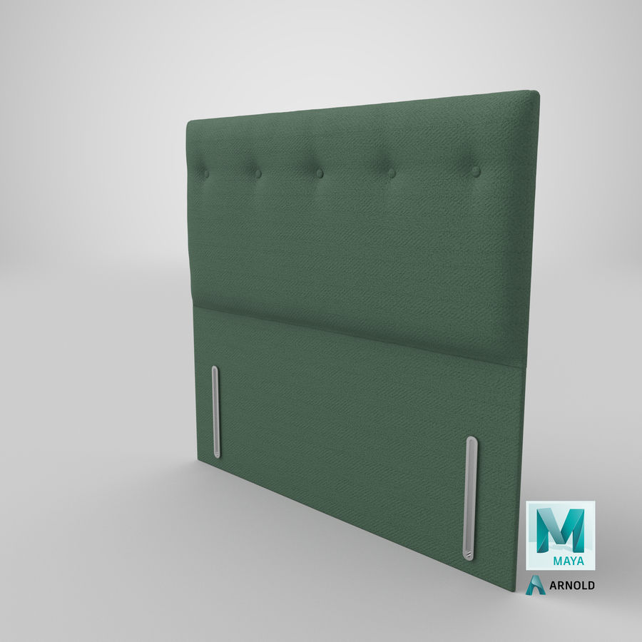 Headboard 07 Mint royalty-free 3d model - Preview no. 27