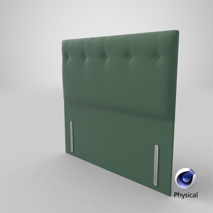 Headboard 07 Mint royalty-free 3d model - Preview no. 22