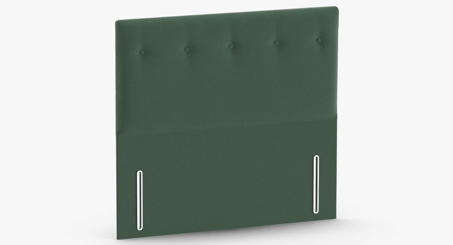 Headboard 07 Mint royalty-free 3d model - Preview no. 3