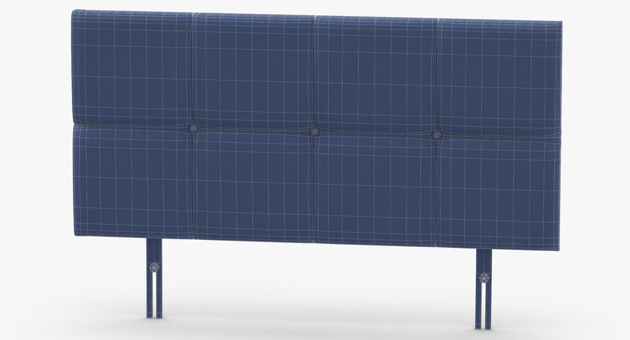 Headboard 09 Blush royalty-free 3d model - Preview no. 13
