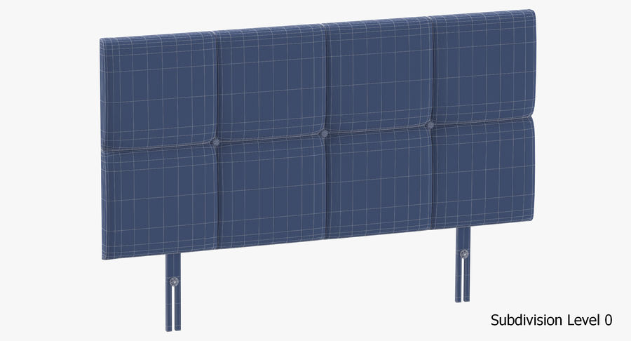 Headboard 09 Blush royalty-free 3d model - Preview no. 18
