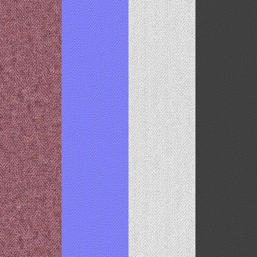 Headboard 09 Blush royalty-free 3d model - Preview no. 19