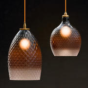 Lamp Hanging Round Ombre 3d model