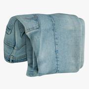 Jeans Blauw V4 3d model