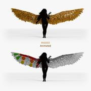 金色天使之翼-索具动画 3d model