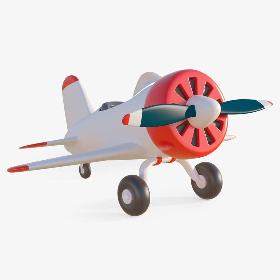 Cartoon Toy Airplane royalty-free 3d model - Preview no. 1