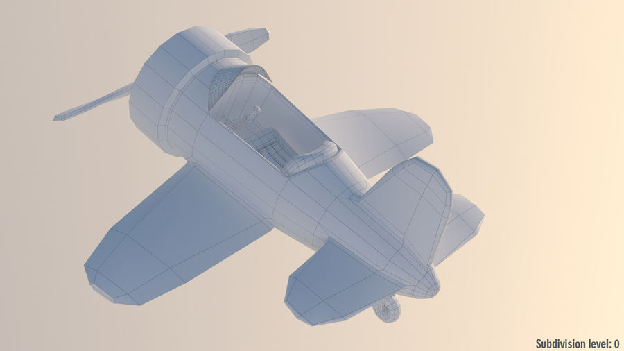 Cartoon Toy Airplane royalty-free 3d model - Preview no. 7