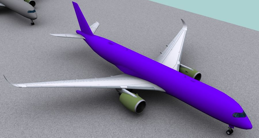 Base Airbus A350-900 / A350-1000 royalty-free 3d model - Preview no. 3
