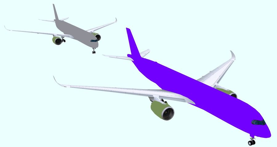 Base Airbus A350-900 / A350-1000 royalty-free 3d model - Preview no. 7