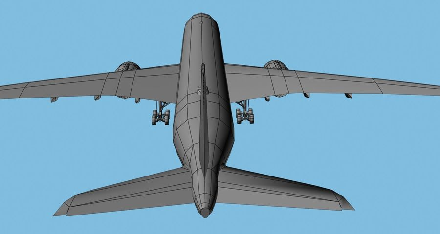 Base Airbus A350-900 / A350-1000 royalty-free 3d model - Preview no. 13