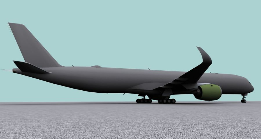 Base Airbus A350-900 / A350-1000 royalty-free 3d model - Preview no. 6