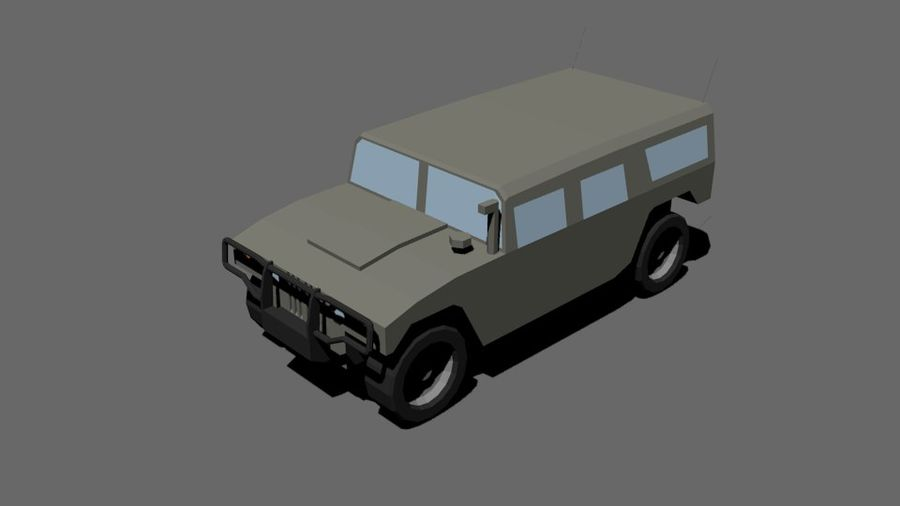 Humvee Low Poly royalty-free 3d model - Preview no. 1