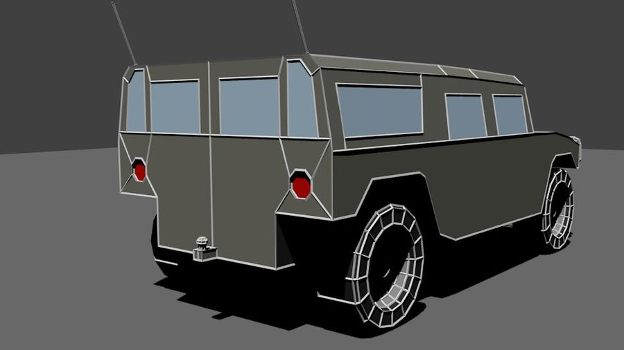Humvee Low Poly royalty-free 3d model - Preview no. 6
