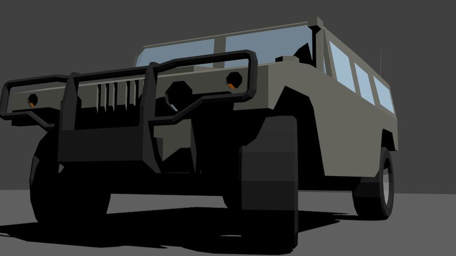 Humvee Low Poly royalty-free 3d model - Preview no. 7
