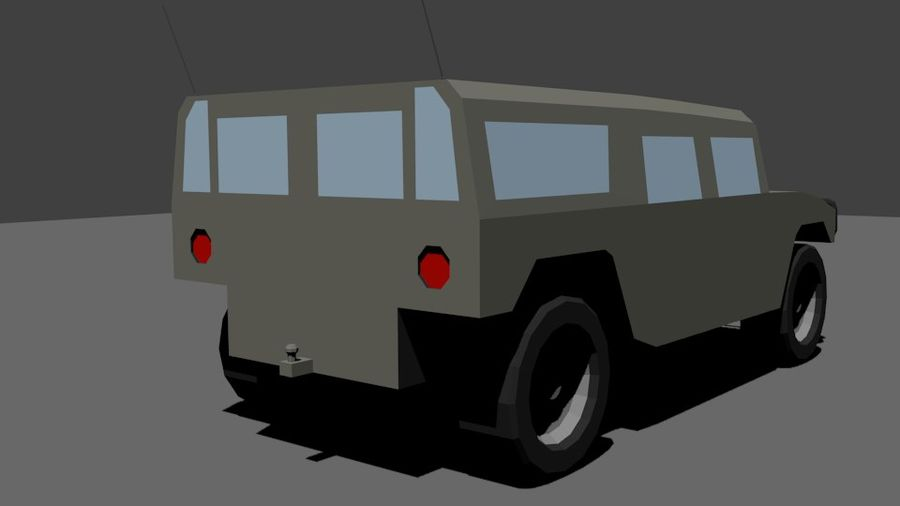 Humvee Low Poly royalty-free 3d model - Preview no. 5