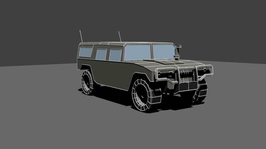 Humvee Low Poly royalty-free 3d model - Preview no. 4