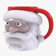 Tazza di Babbo Natale 3d model