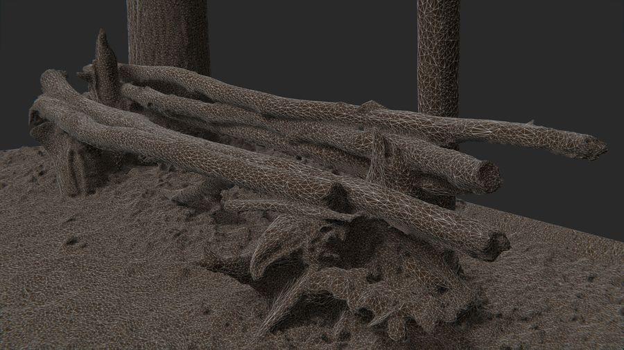Banco di tronchi nella foresta royalty-free 3d model - Preview no. 16