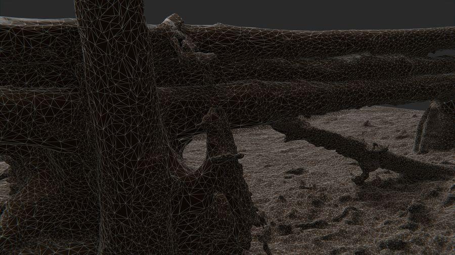 Banco di tronchi nella foresta royalty-free 3d model - Preview no. 15