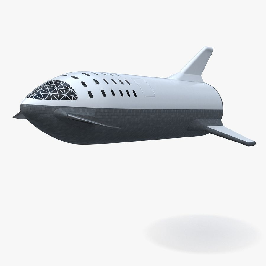 Space ship royalty-free 3d model - Preview no. 17