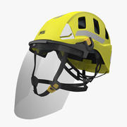 Petzl Strato Vent Hi-Viz Helmet with Fase Shield 3d model