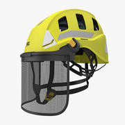 Petzl Strato Vent Hi-Viz Helmet with Mesh Shield 3d model