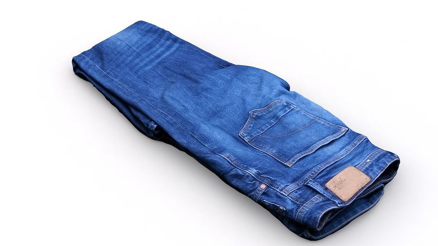 Clothes 63 Jeans royalty-free 3d model - Preview no. 9