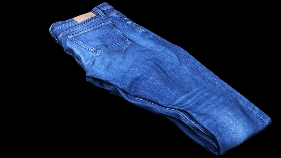 Clothes 63 Jeans royalty-free 3d model - Preview no. 2