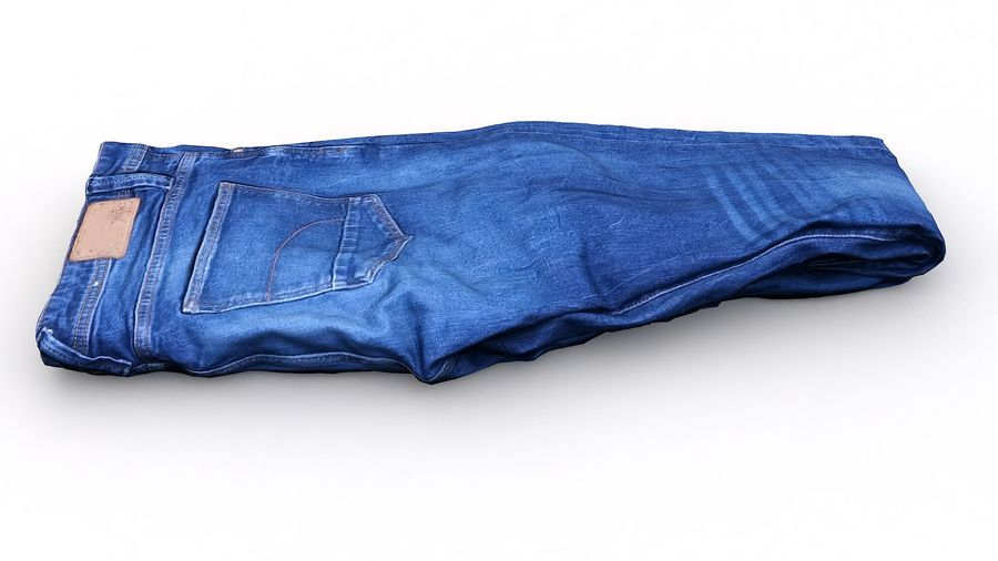 Clothes 63 Jeans royalty-free 3d model - Preview no. 6
