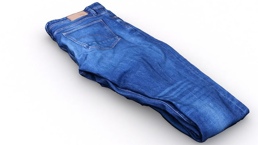 Clothes 63 Jeans royalty-free 3d model - Preview no. 3