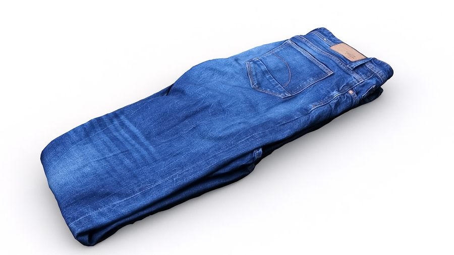 Ropa 63 jeans royalty-free modelo 3d - Preview no. 11