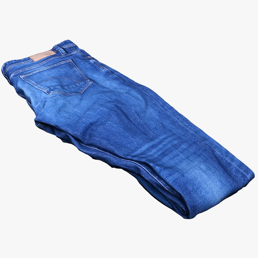 Clothes 63 Jeans royalty-free 3d model - Preview no. 1
