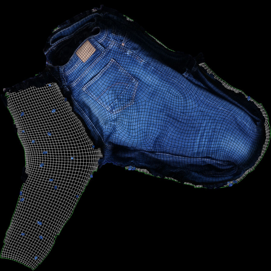 Clothes 63 Jeans royalty-free 3d model - Preview no. 13