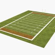 American Football Field 3d model