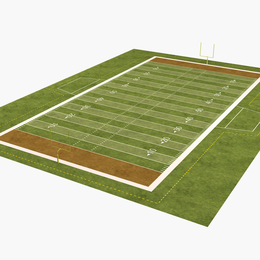 American Football Field royalty-free 3d model - Preview no. 1