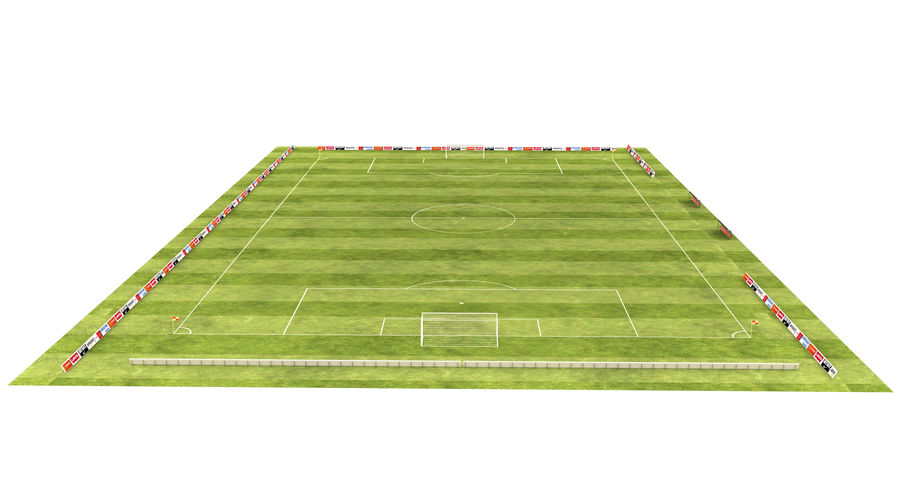 American Football Field And Soccer Field royalty-free 3d model - Preview no. 4