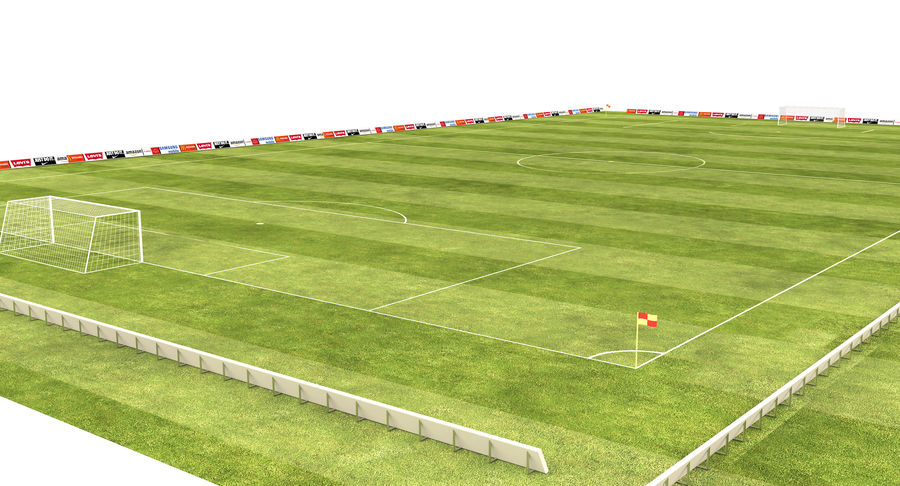 American Football Field And Soccer Field royalty-free 3d model - Preview no. 8