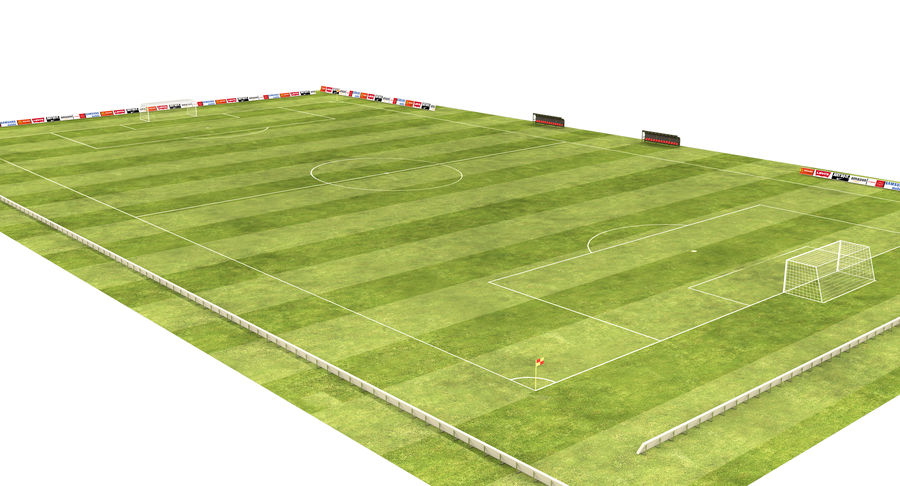 American Football Field And Soccer Field royalty-free 3d model - Preview no. 5
