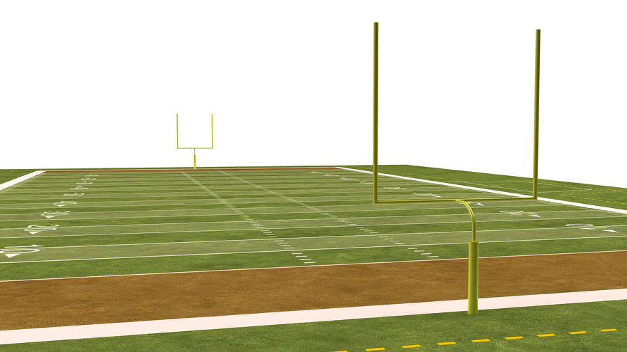 American Football Field And Soccer Field royalty-free 3d model - Preview no. 23