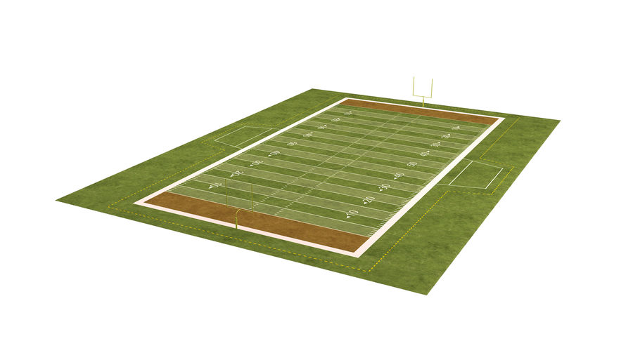 American Football Field And Soccer Field royalty-free 3d model - Preview no. 28