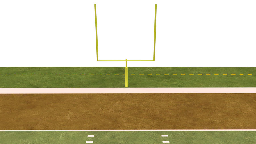 American Football Field And Soccer Field royalty-free 3d model - Preview no. 24