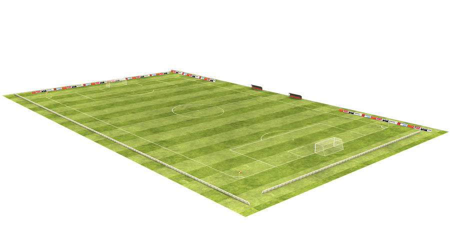 American Football Field And Soccer Field royalty-free 3d model - Preview no. 2