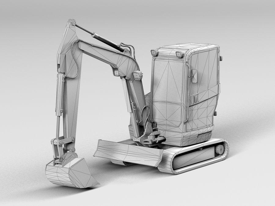 小型挖掘机 royalty-free 3d model - Preview no. 8