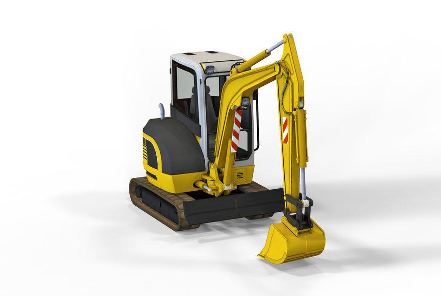 小型挖掘机 royalty-free 3d model - Preview no. 6