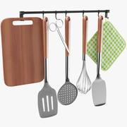 Mutfak Gereçleri Tutacağı 3d model