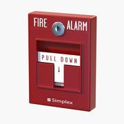 Pulsante di allarme antincendio 3d model