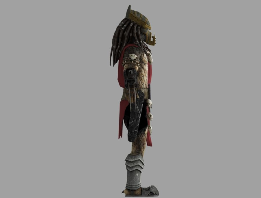 predator lord royalty-free 3d model - Preview no. 4