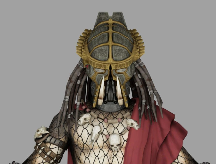 predator lord royalty-free 3d model - Preview no. 6