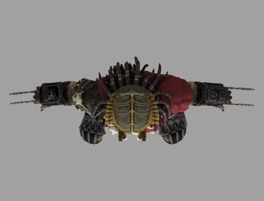 predator lord royalty-free 3d model - Preview no. 8